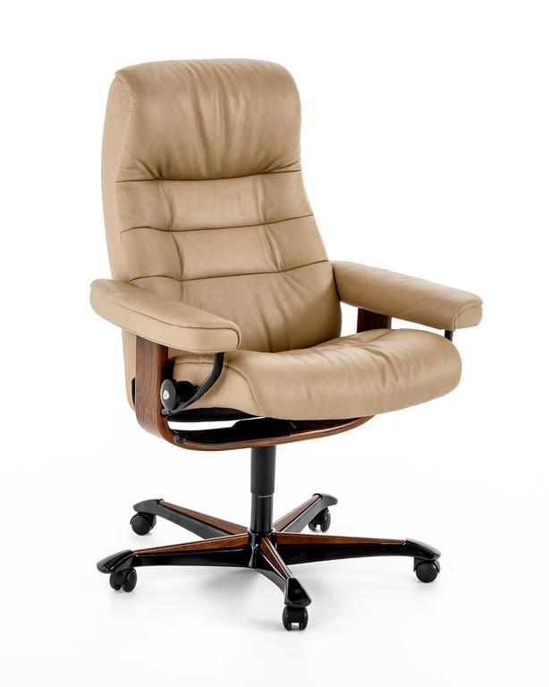 Stressless by Ekornes Home Office Opal Office Chair - Item Number: 1255096 Sandy Brown