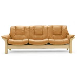 Low-Back 3-Seater Reclining Sofa