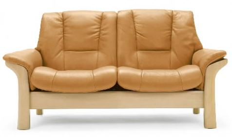 Low-Back 2-Seater Reclining Loveseat