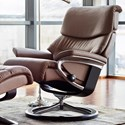 Stressless Capri Large Reclining Chair with Signature Base - Item Number: 1311310-Paloma Chestnut