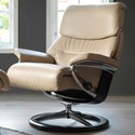 Stressless Capri Large Reclining Chair with Signature Base - Item Number: 1311310-Paloma Sand