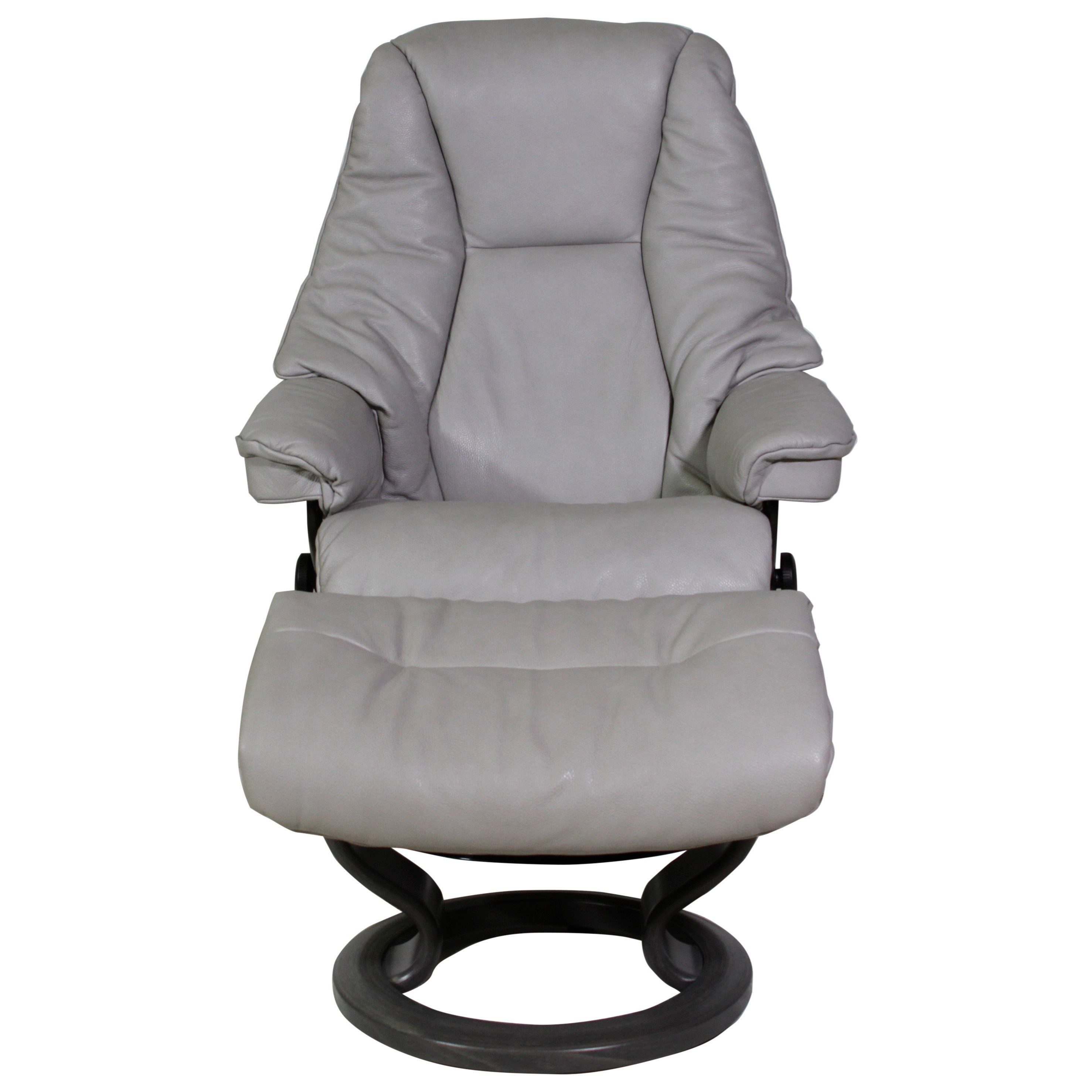 Small Chair With Ottoman: Stressless Live Small Reclining Chair & Ottoman With