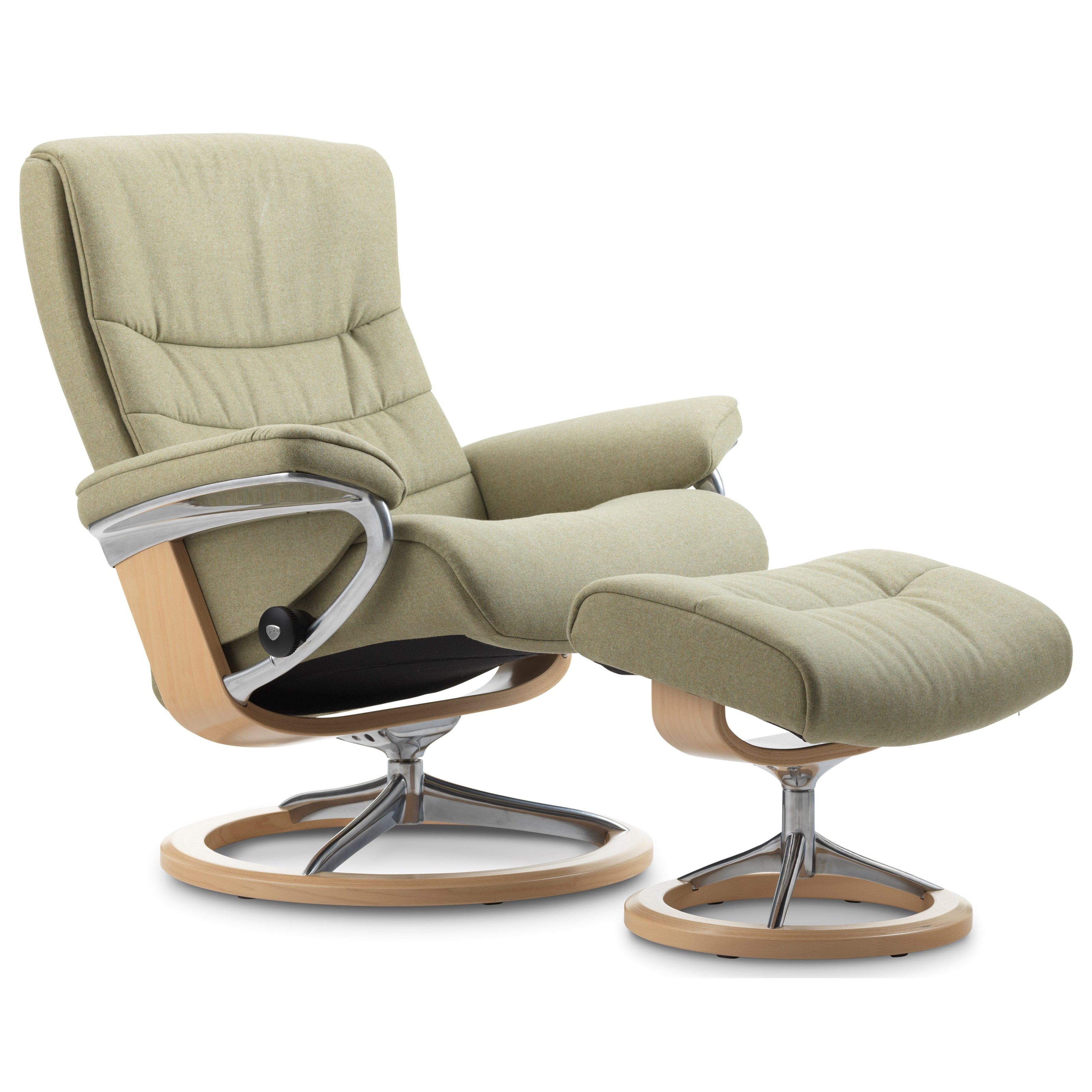 Stressless Nordic Medium Chair U0026 Ottoman With Signature Base   Item Number:  1283310 Calido