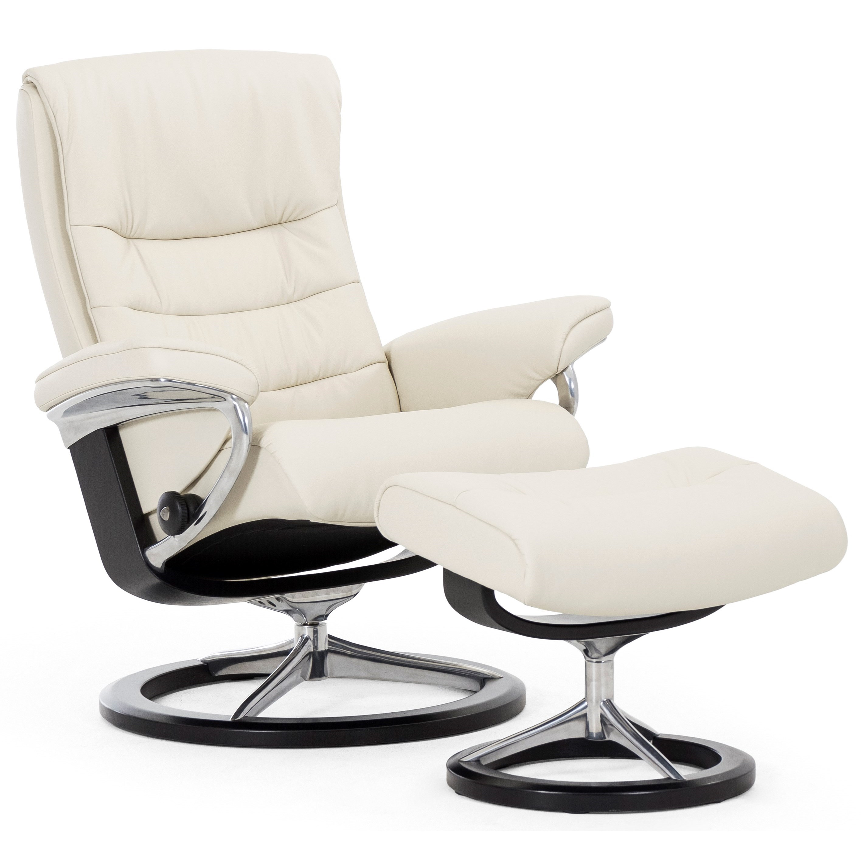 Stressless Nordic Large Chair U0026 Ottoman With Signature Base   Item Number:  1282310 Paloma