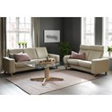 Stressless by Ekornes Stressless Pause 3 Seat Low Back Sofa with Flat Track Arms