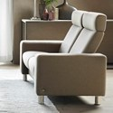 Stressless by Ekornes Stressless Pause 2 Seat High Back Loveseat with Flat Track Arms