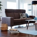 Stressless by Ekornes Stressless Pause 3 Seat High Back Sofa - Item Number: 1417030-Calido Brown