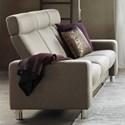 Stressless by Ekornes Stressless Pause 3 Seat High Back Sofa - Item Number: 1417030-Paloma Vanilla