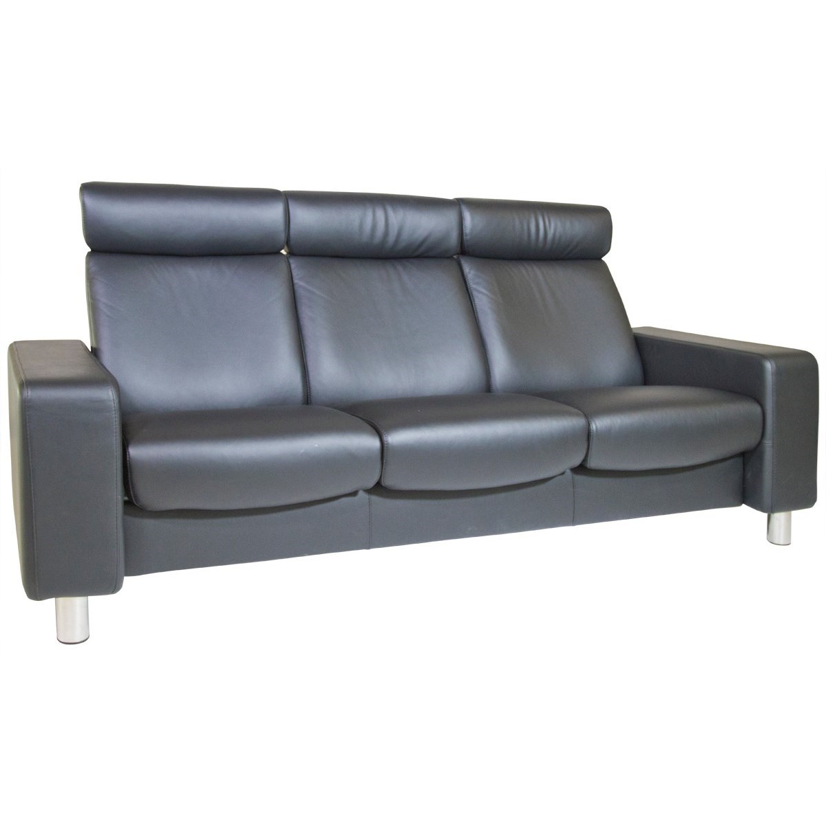 Stressless By Ekornes Stressless Pause 1417030 3 Seat High Back Sofa With Flat Track Arms Dunk