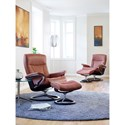 Stressless by Ekornes Stressless President Small Signature Reclining Chair and Ottoman