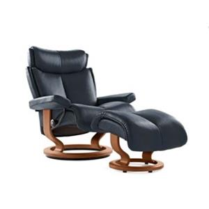 Stressless by Ekornes Magic Medium Stressless Chair & Ottoman
