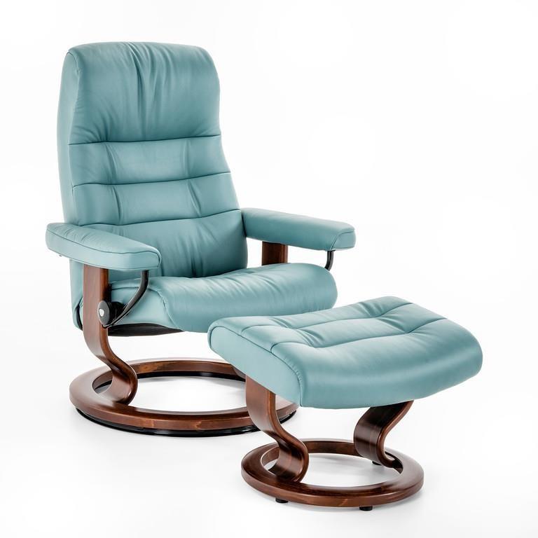 Stressless By Ekornes Recliners Medium Opal Classic Chair Item Number 1255415 Paloma Aqua