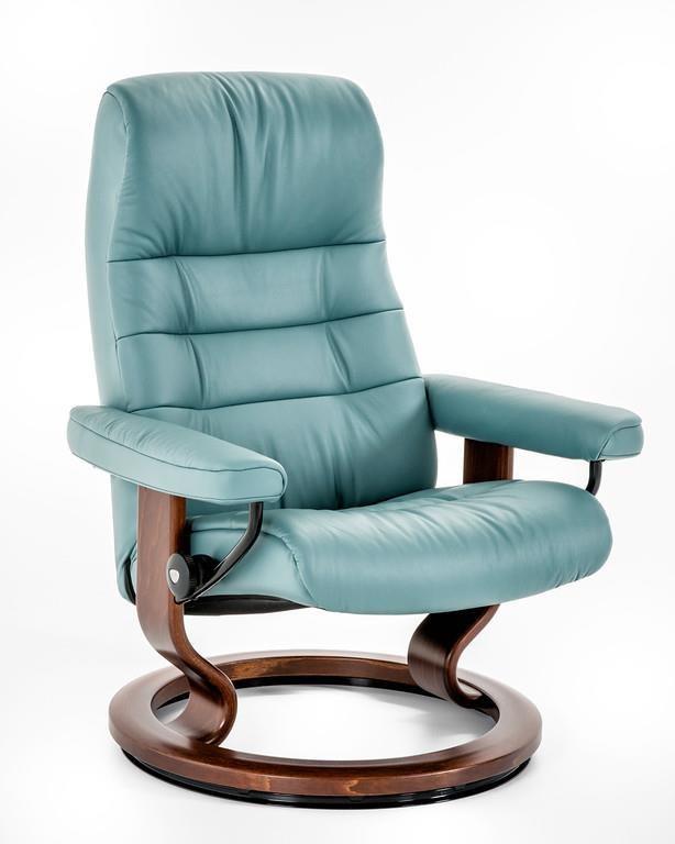 Stressless By Ekornes Stressless Recliners 1255415 Paloma Aqua Brn Medium Opal Classic Chair