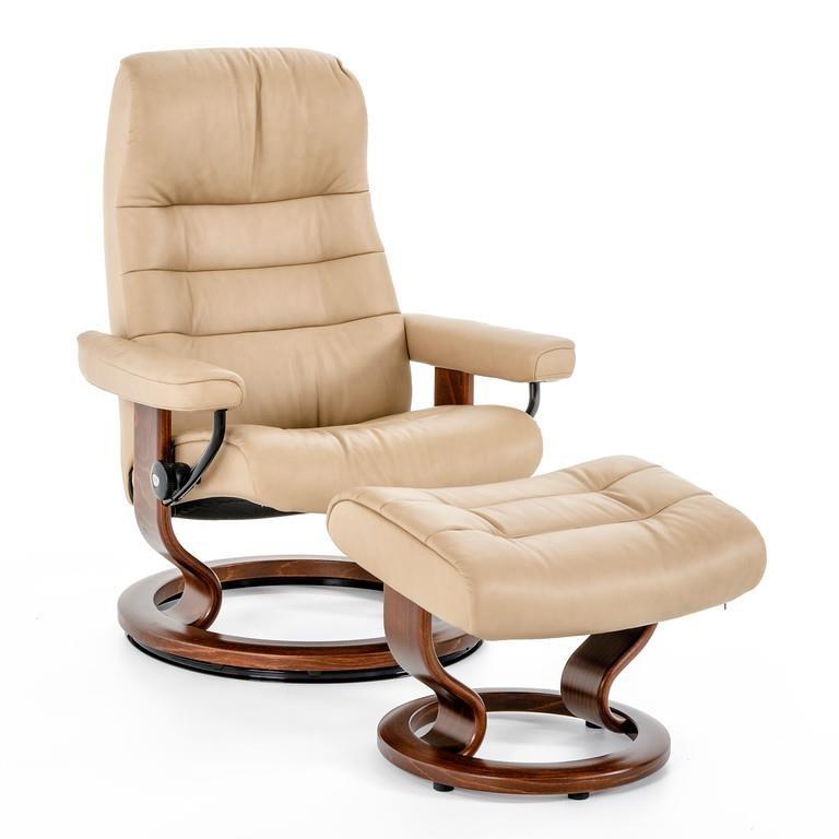 Stressless By Ekornes Stressless Recliners 1255415 Paloma Sand Brn Medium Opal Classic Chair