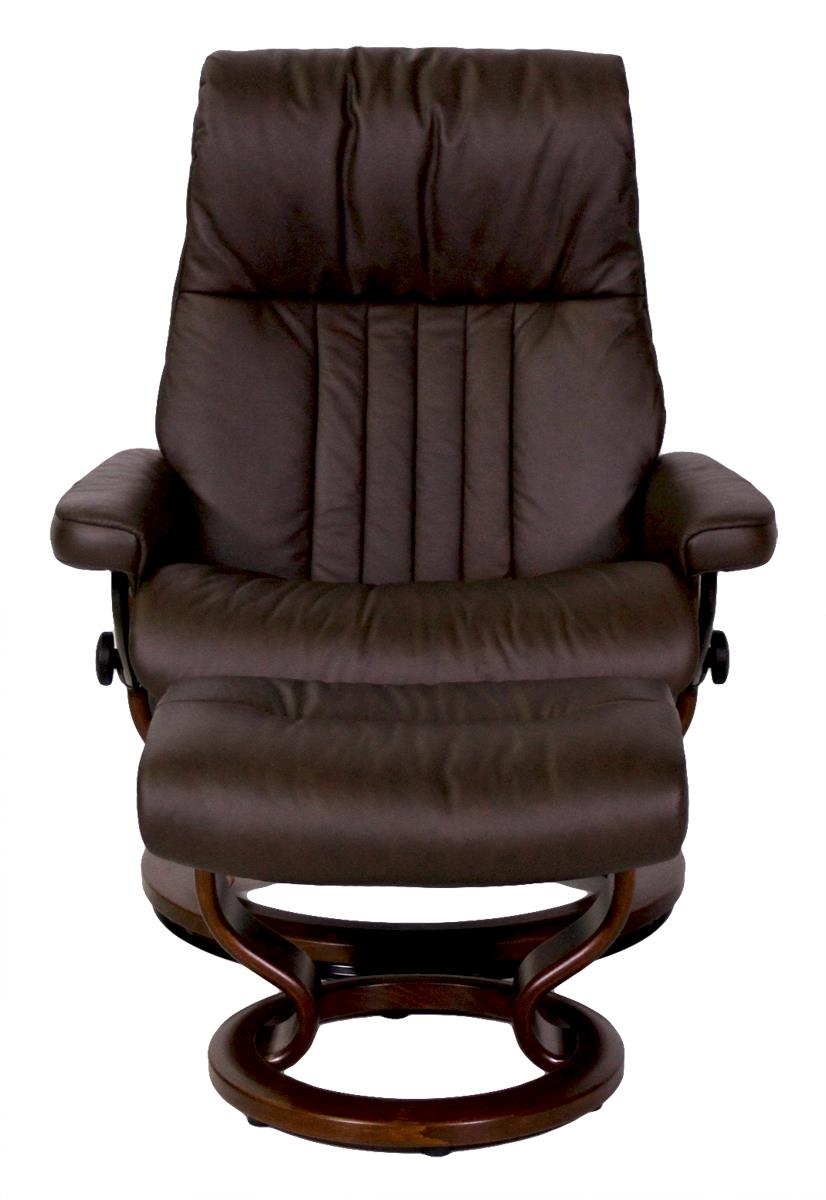 Stressless By Ekornes Crown Large Stressless Chair And Ottoman Homeworld Furniture Chair