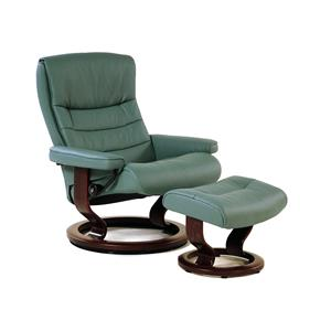 Stressless by Ekornes Stressless Recliners Nordic Large Recliner & Ottoman