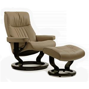 Stressless by Ekornes Stressless Recliners Crown Medium Recliner/Ottoman