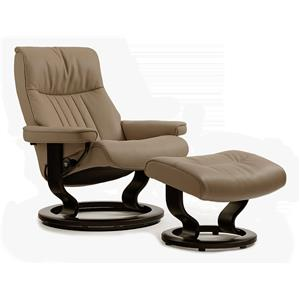 Stressless by Ekornes Stressless Recliners Crown Large Recliner/Ottoman
