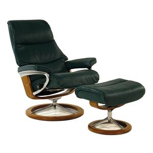Stressless by Ekornes Stressless Recliners View Medium Recliner & Ottoman