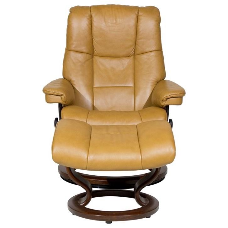 Stressless By Ekornes Stressless Recliners 1731015 Mayfair Medium Reclining Chair And Ottoman