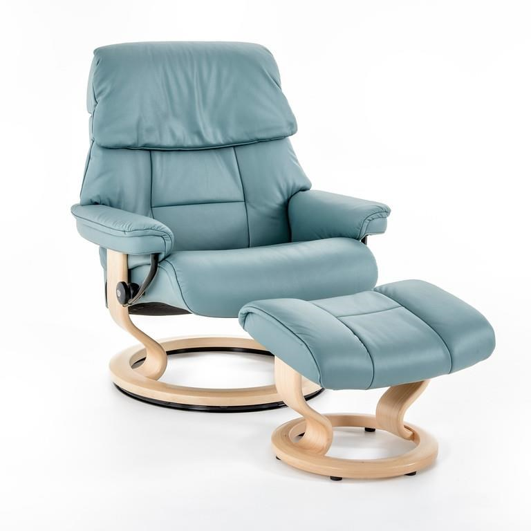 Stressless by Ekornes Stressless Ruby Large Classic Chair - Item Number: 1258415 PAL AQUA GRN92
