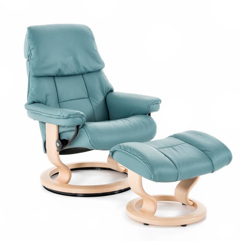 Stressless by Ekornes Stressless Ruby Medium Classic Chair - Item Number: 1259415 PAL AQUA GRN92