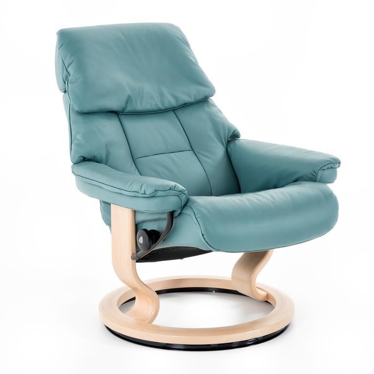 Stressless by Ekornes Stressless Ruby Medium Classic Reclining Chair and Ottoman - Baeru0026#39;s ...