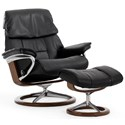 Stressless Stressless Ruby Large Signature Chair - Item Number: 1258310-Paloma Black