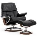 Stressless Stressless Ruby Medium Signature Chair - Item Number: 1259310-Paloma Black