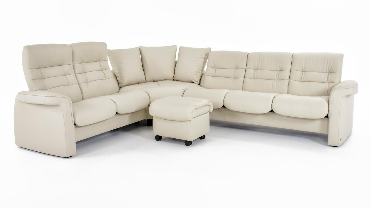 Stressless by Ekornes Stressless Sapphire 4 Pc Reclining Sectional Sofa - Item Number: 1266024+1266007+1266055+1267034 LT