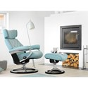Stressless by Ekornes Stressless Skyline Small Signature Reclining Chair and Ottoman