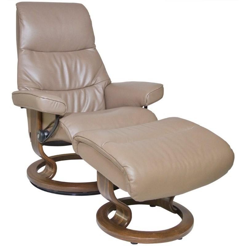 Stressless by Ekornes View Small Stressless Chair & Ottoman - Item Number: 1306015-Cori Mole