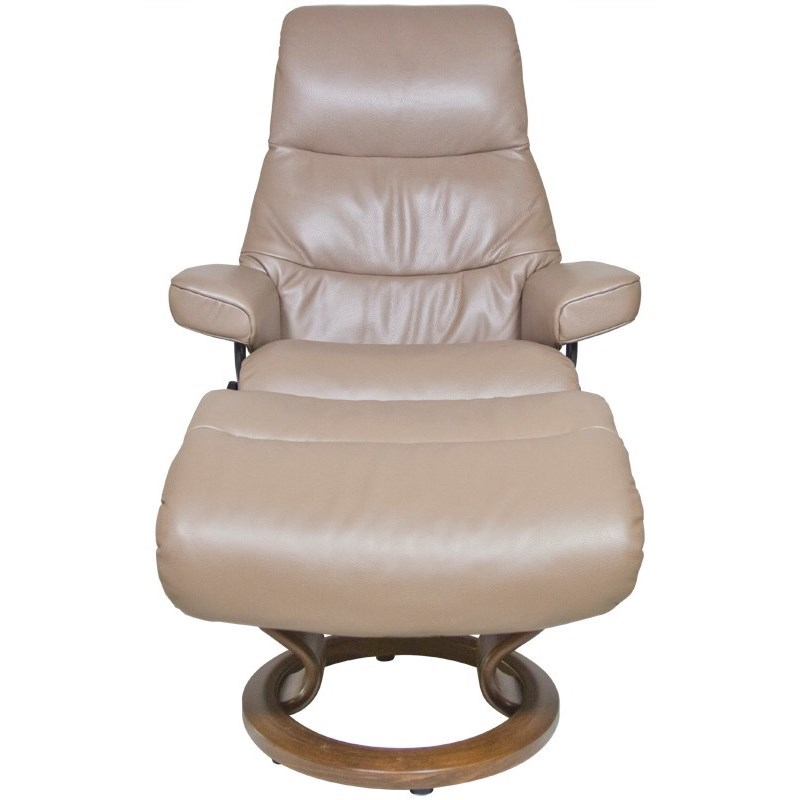 Small Chair With Ottoman: Stressless View Small Reclining Chair & Ottoman With
