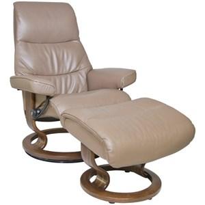 Stressless by Ekornes View Small Stressless Chair & Ottoman