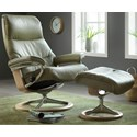 Stressless by Ekornes Stressless View Large Signature Chair - Item Number: 1308310-Paloma Olive