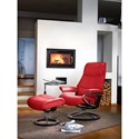 Stressless by Ekornes Stressless View Large Signature Reclining Chair and Ottoman