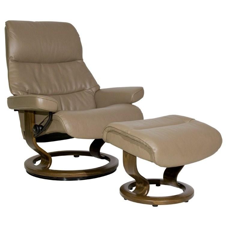 Stressless View Large Stressless Chair Ottoman Homeworld Furniture Reclining Chair