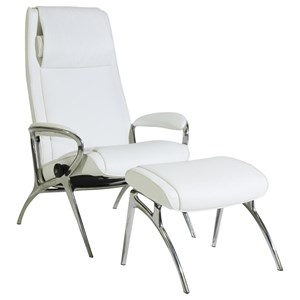 James Chair & Ottoman with Aluminum Base