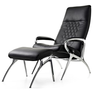 Stressless by Ekornes Stressless You Michael Reclining Chair and Ottoman