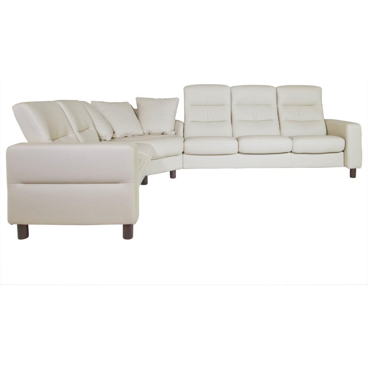 Stressless Wave Reclining Sectional Homeworld Furniture