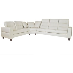 Stressless Wave Reclining Sectional