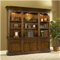 Office Solutions Winsome Home Office Straight Bookcase with Left & Right Piers - Item Number: ST-WIN-B32+BR26+BL26