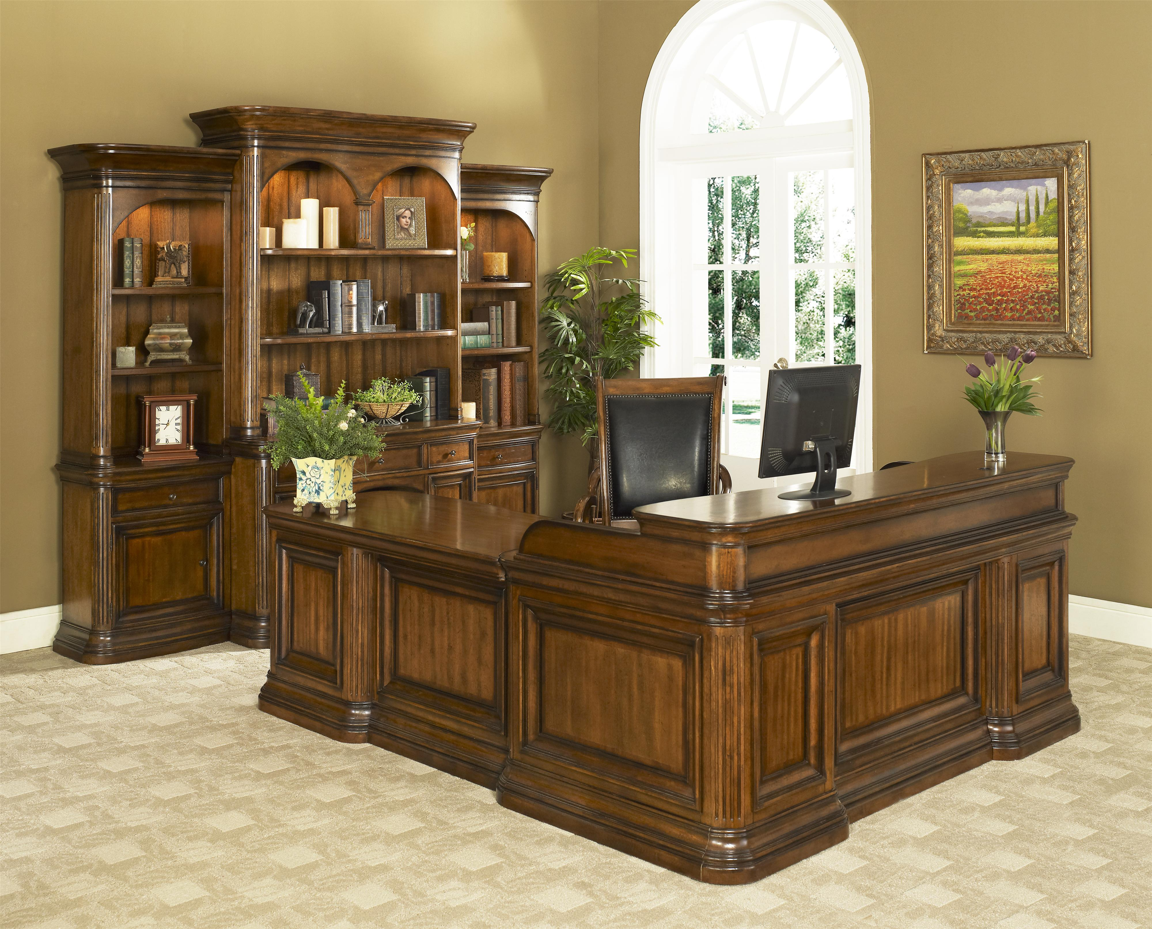 Winsome Home Office Traditional Double Pedestal Desk U0026 Return By Office  Solutions