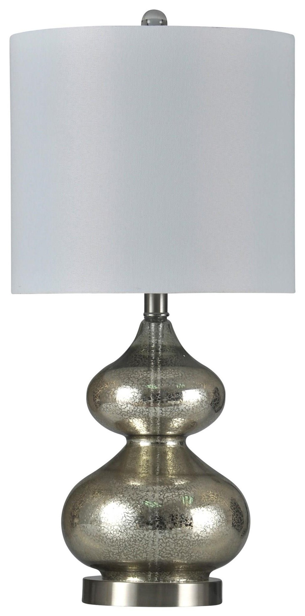 2020 LAMPS Glass Silver Lamp by StyleCraft at Furniture Fair - North Carolina