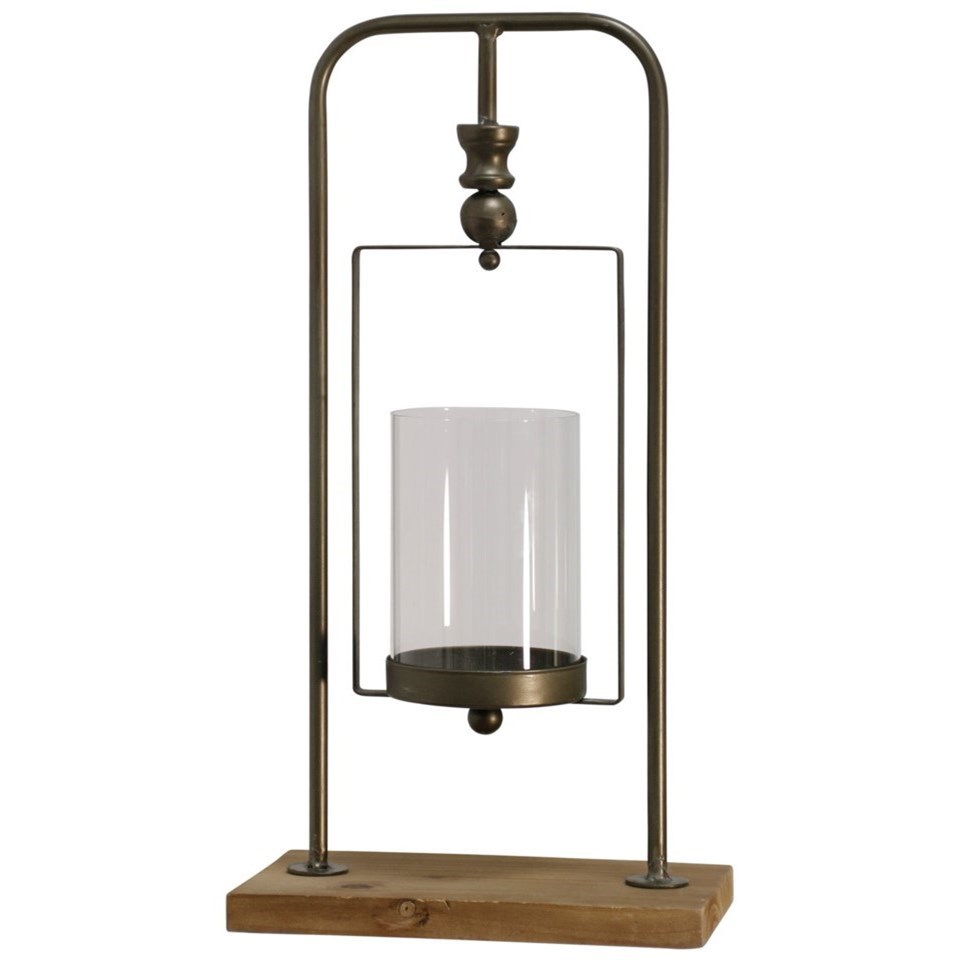 Natural Gold Industrial Candle Holder