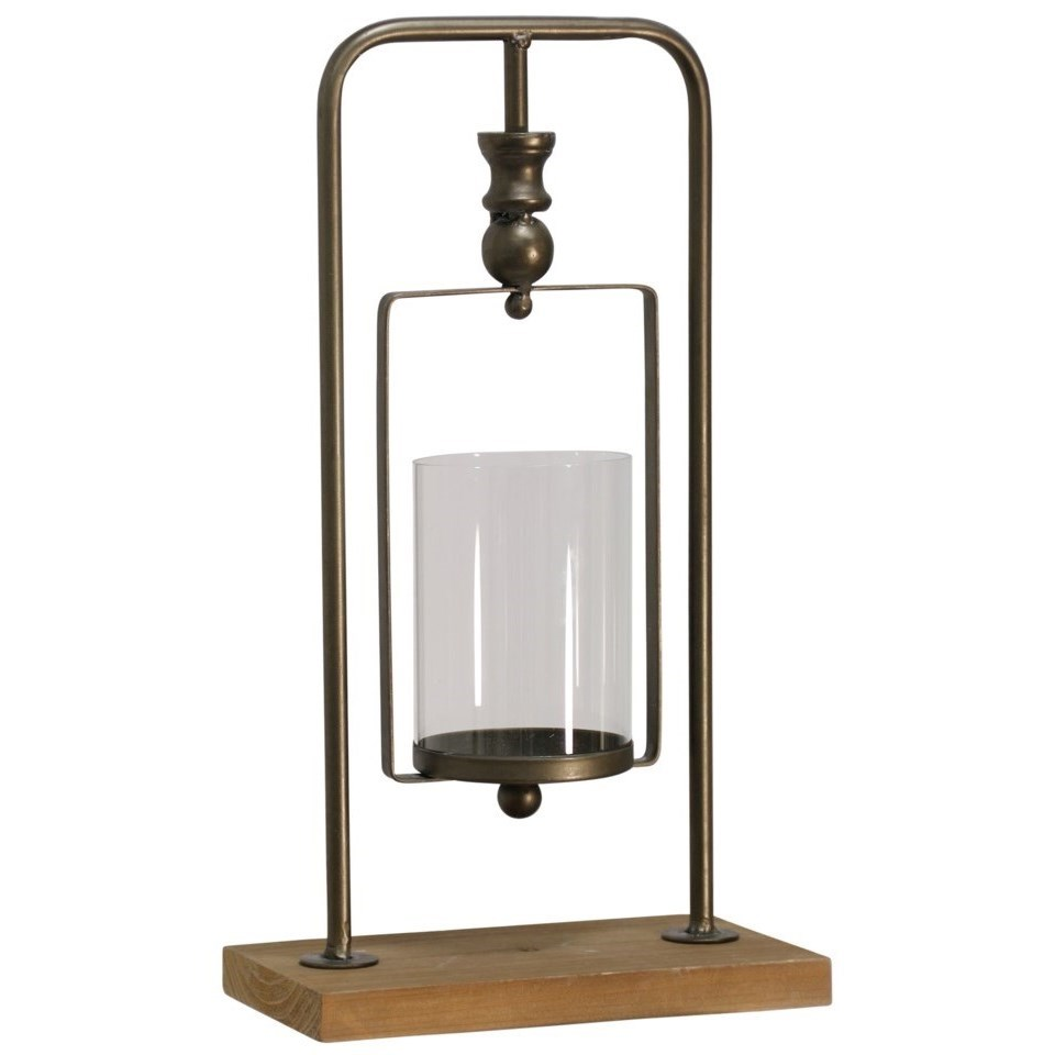 Accessories Natural Gold Industrial Candle Holder by StyleCraft at Alison Craig Home Furnishings