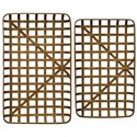 StyleCraft Accessories Set of Two Bamboo Trays - Item Number: AC721160