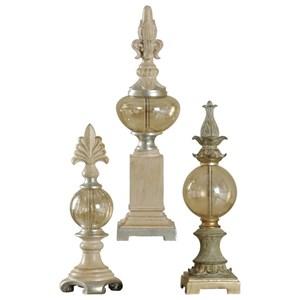 Set of 3 Decorative Finials
