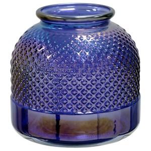 """Diamond Stud Violet Pearl 9"""" Vase"""