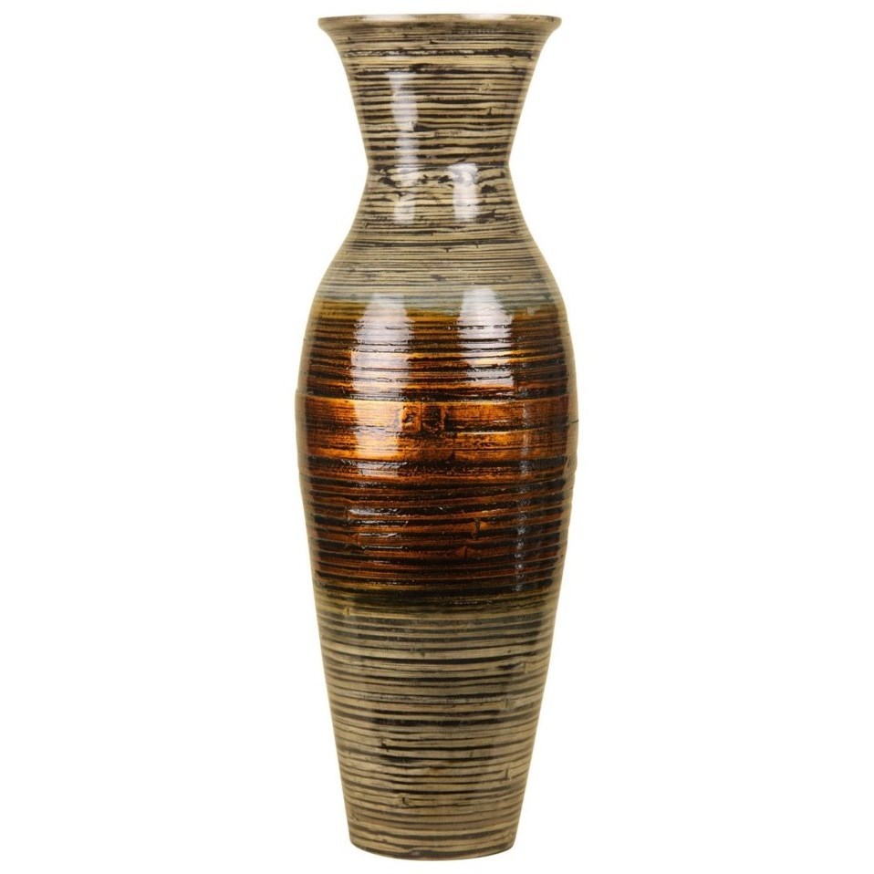 Accessories Bamboo Vase by StyleCraft at Alison Craig Home Furnishings